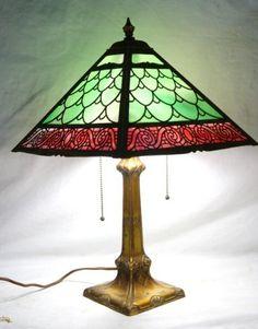 Art Deco Bradley & Hubbard  lamp