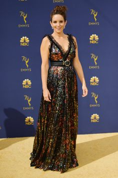 Tina Fey - Every Stunning Dress On The 2018 Emmy Awards Red Carpet - Photos
