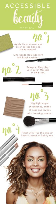 1, 2, 3, 4 ...and you're out the door! Keep your look calm, cool and collected with an easy four-product makeup regimen that will leave more time for the important things in your life. | Mary Kay  marykay.com/mgraves2020