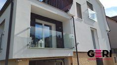 Sklenené zábradlie Francúzskeho okna, dodatočná montáž do 200mm zateplenia, Bratislava