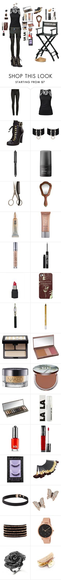 """Touch-up Time"" by karlielove2party ❤ liked on Polyvore featuring Fendi, Bordelle, GHD, Living Proof, Tweezerman, Urban Decay, Boohoo, Casetify, Bloomingdale's and Chan Luu"