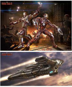 Artes do filme Iron Man 3, por Josh Nizzi   THECAB - The Concept Art Blog