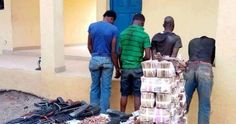Mountains of Naira Notes: See the Huge Cash Recovered from Armed Robbers in Benin (Photos)