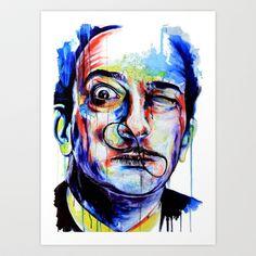 Salvador Dalì Art Print by Klare - $15.96