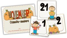 Teach Junkie: 13 Printable Calendar Numbers {Free Download Sets} - November