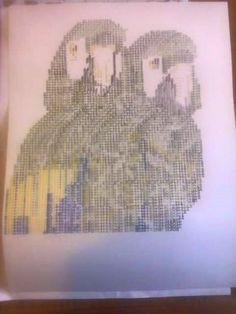 Es un dibujo hecho con signos de maquina de escribir....
