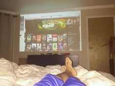 Projector, bedroom