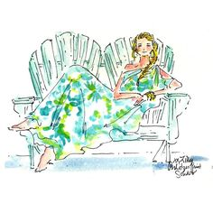 Found the dress, find the occasion. by qurain Lily Pulitzer Painting, Lilly Pulitzer Prints, Love Lily, Cute Art, Summer Fun, Flower Power, Illustration Art, Sketches, Artist