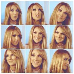 The many faces of Miss Celine Dion.