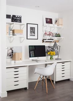 70 Beautiful & Inviting Home Office Decor Ideas that make you want to work - Idea Wallpapers , iPhone Wallpapers,Color Schemes