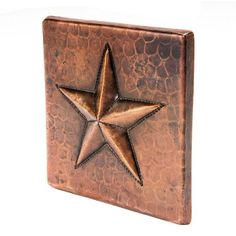 Premier Copper Products x Hammered Copper Star Tile in Oil Rubbed Bronze Ceramic Mosaic Tile, Stone Mosaic Tile, Insert, Western Decor, Western Style, Hammered Copper, Decorative Tile, Wall Patterns, The Ranch