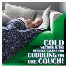 What's your favourite way of keeping warm while relaxing?  Let's see your couch and blankie setups! Cuddling On The Couch, Winter Is Here, Solid Wood Furniture, Keep Warm, Cold Weather, Your Favorite, Toddler Bed, Kids Rugs, Instagram
