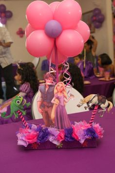Centro De Mesa de Rapunzel