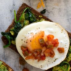 In this satisfying avocado-egg toast recipe, try full-flavored, high-fiber bread, like a hearty slice of German-style rye or seeded multigrain from your favorite bakery. To turn this into a portable breakfast, swap the toast for a whole-wheat English muffin or wrap.