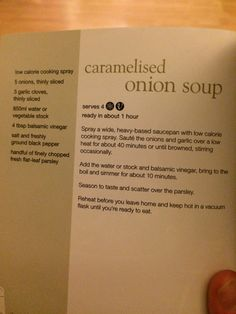Slimming world caramelised onion soup Slimming World Menu, Slimming World Recipes, Meal Ideas, Food Ideas, Slimmimg World, Onion Recipes, Vegetable Stock, Onion Soup, Caramelized Onions