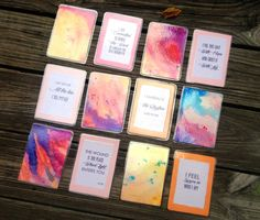 How to Create A Deck of Watercolor Encouragement Cards | LauraCatherine.co
