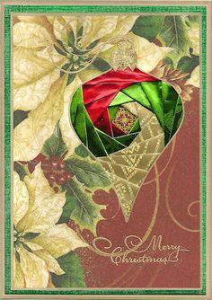 Have you ever seen a more beautiful handmade Christmas card? This Iris Folding Christmas Collection is absolutely gorgeous.