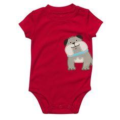 Carters. Short Sleeve Dog Bodysuit. (Purchased! ^-^)