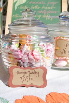Harry Potter Theme Wedding: Guests were tongue-tied, thanks to this sticky taffy.