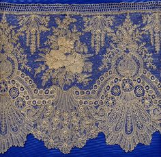 Brussels lace - I'm not going to purchase this type of lace for any project I can think of...but if I had a project and $$$ this would CERTAINLY, top my list !