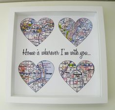 Unique Wedding Gift Personalized Map Art Gift Wedding Gifts Any Location Available Wedding Gifts for