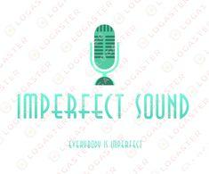 Imperfect Sound Music Logo Inspiration, Logo Design Inspiration, Music Production Companies, Sound Logo, Logo Gallery, Record Company, Free Logo, Logo Maker, Create A Logo