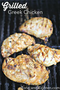 Grilled Greek Chicken Breast on Tone-and-Tighten.com - big on flavor, light on calories! #healthy #recipe from Tone-and-Tighten.com