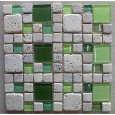 Venecitas Guardas Mosaicos Combinados De Vidrio Y Travertino - $ 329,00 en MercadoLibre