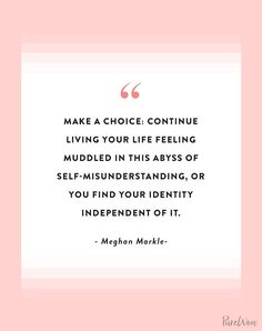 16 Meghan Markle Quotes About Work, Feminism and Staying True to Yourself family markle British Royal Family Tree, Royal Family Trees, Be True To Yourself Quotes, Live For Yourself, Finding Yourself, Meghan Markle Style, Morning Prayers, The Way You Are, Take Care Of Me