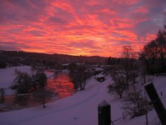 Allan Water and Dunblane at sunrise.