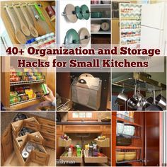 37. Maximize the storage space under the sink with a DIY pocket organizer Tutorial via Imperfect Homemaking 38. Attach a magazine holder to the inside of the kitchen cabinet door for easy access Tutorial via The Wandmaker's Mother 39. Take advantage of the inside of your cabinet doors to store …