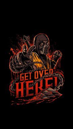 Mortal Kombat X inspired design Scorpion Mortal Kombat, Arte Kombat Mortal, Video Game T Shirts, Video Game Art, Video Games, Amoled Wallpapers, Get Over It, Reptiles, Vector Art