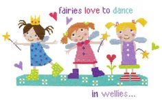 The Stitching Shed Fairies in Wellies cross stitch chart by TheStitchingShed, £7.20