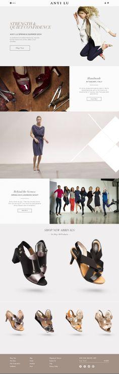 ANYI LU - Flat UI Design Website