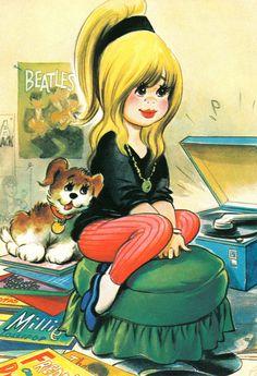 "vinylespassion: "" Bamforth Comic Postcard, 1960s. """