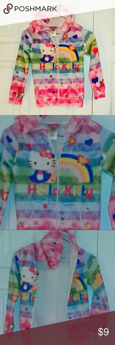 Hello Kitty Fleece Full Zip Hoodie Soft fleece full zip hoodie Hello Kitty Jackets & Coats