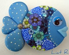 Polymer Clay Fish, Polymer Clay Kunst, Polymer Clay Animals, Polymer Clay Dolls, Polymer Clay Miniatures, Polymer Clay Projects, Polymer Clay Creations, Polymer Clay Jewelry, Clay Magnets