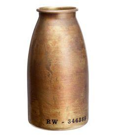 Metal vase | Product Detail | H&M