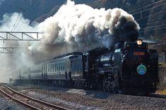 日本の蒸気機関車の代名詞。D51。写真は原型に極力近くされた498号機。