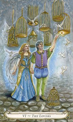 The Lovers - The Fairy Tale Tarot by Lisa Hunt