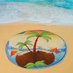 150cm Bohemian Style Beach Yoga Towel Mandala Round Bed Sheet Tapestry Tablecloth Silk Scaf