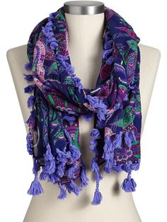 Paisley scarf.