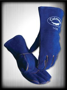 溶接用グローブ 女性用 Caiman High-Quality Welding Gloves Blue
