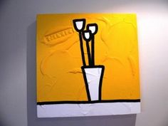 Three Yellow Tulips by Richard Scott Education Trust, Yellow Tulips, How To Raise Money, Cape Town, Love Art, Candle Sconces, Charity, Wall Lights, Auction