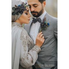 Image may contain: one or more people, beard and closeup Wedding Couple Poses Photography, Wedding Poses, Wedding Couples, Wedding Portraits, Wedding Bride, Hijab Wedding, Muslimah Wedding Dress, Muslim Wedding Dresses, Cute Muslim Couples