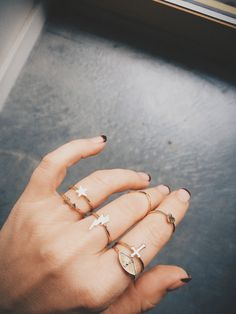 Curate the perfect stacking set of #BingBangxUO rings today...lavishly coated in Bing Bang's superior quality thick 14k gold - these babies are easy on the pocket but WONT leave your fingers green! We promise xxBB