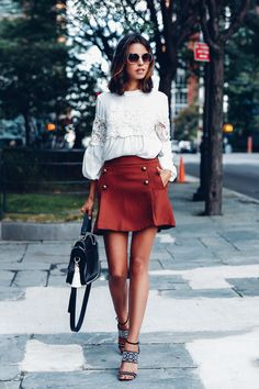 peasant blouse with miniskirt