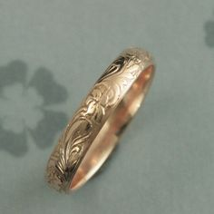 Hey, I found this really awesome Etsy listing at https://www.etsy.com/listing/224916123/rose-gold-wedding-band-solid-14k-rose