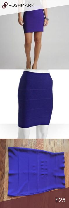 BCBG Purple Bandage Skirt XS BCBG Purple Bandage Skirt in XS. This is a mini skirt and very fitted! Very flattering too! BCBG Skirts Mini
