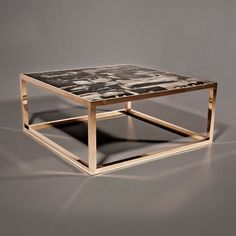Contemporary Coffee Table In Reclaimed Wood PETRIFIED Hudson Furniture